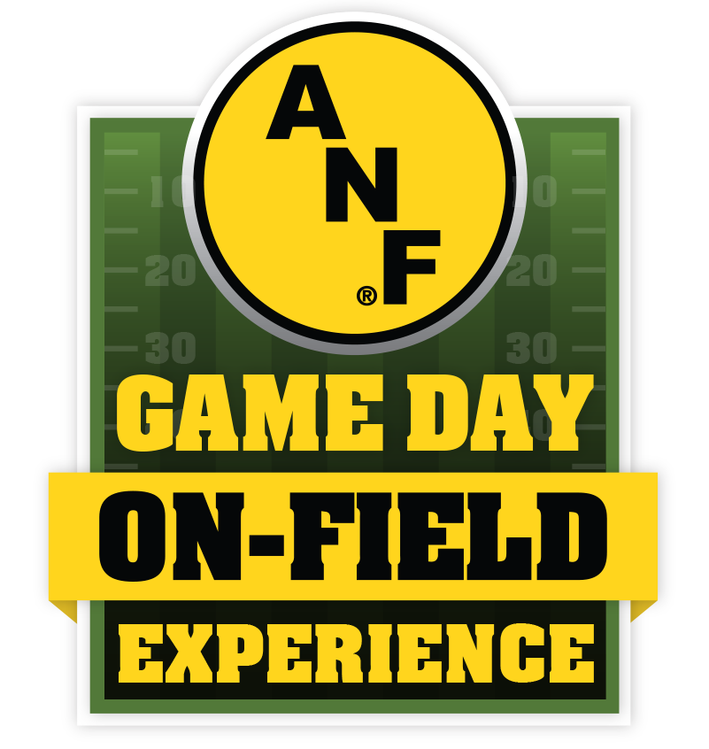 America Needs Farmers Game Day On Field Experience Logo